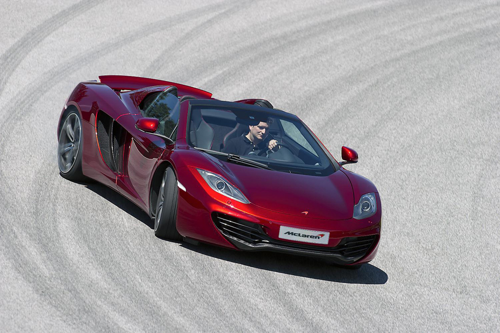 mclaren debuts topless mp4 12c spider