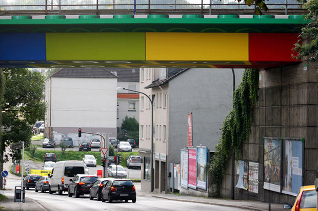 Megx Creates LEGO Bridge in Germany