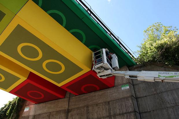 Megx Creates LEGO Bridge in Germany