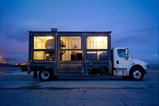 A Mobile Pizza Kitchen Made From a Shipping Container