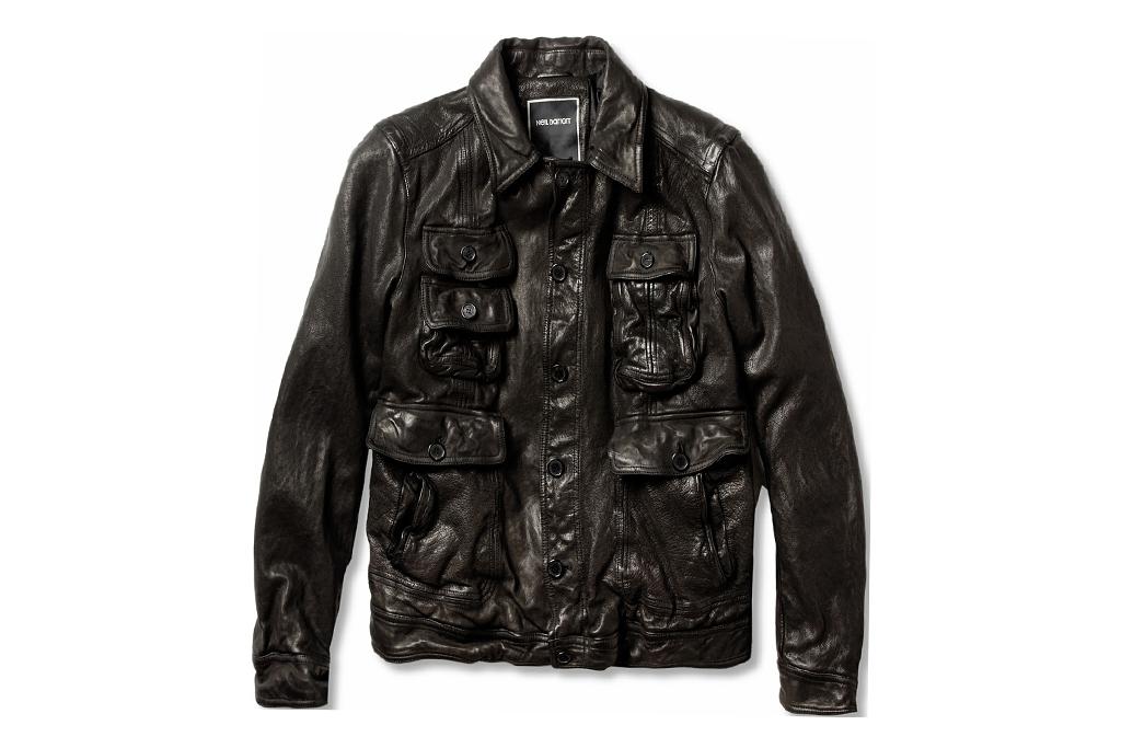 Neil Barrett Padded Textured Leather Jacket