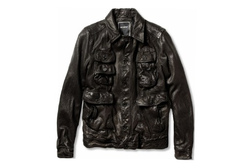 Neil Barrett Padded Textured Leather Jacket
