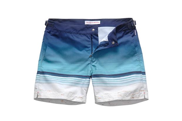 "Orlebar Brown 5th Anniversary ""Surfboards"" Swim Shorts"