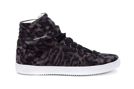Pierre Hardy 2012 Fall/Winter High-Top Leopard Print Suede Sneakers
