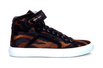 Pierre Hardy 2012 Fall/Winter Tiger Print Calf Hair Mid-Top Sneaker