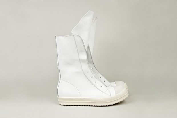 Rick Owens Leather Ramones Boot