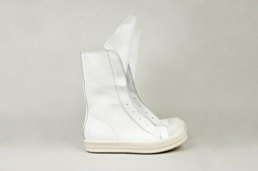 Rick Owens Leather Ramones Boot
