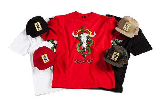 st alfred x huf collaboration t shirt cap