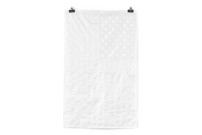 Stamp'd LA All-White American Flag