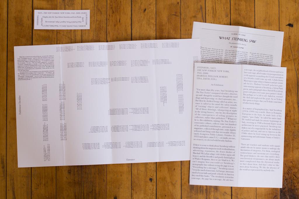 steinberg saul the new yorker new york 1945 2000 retrospect exhibition yale union