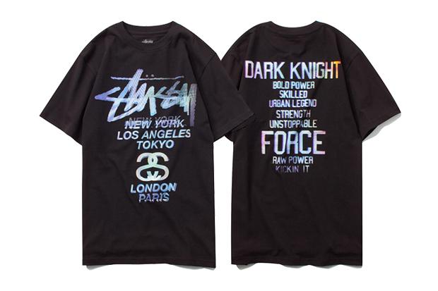 the dark knight rises batman x stussy t shirt collection