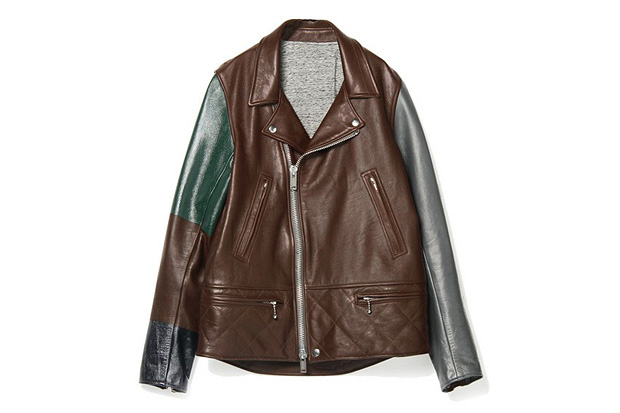 UNDERCOVER J4206-1 Bordeaux Leather Jacket