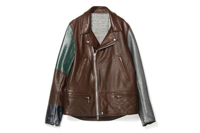 UNDERCOVER J4206-1 Bordeaux Leather Jacket