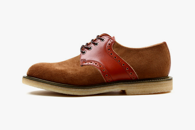 Union x Mark McNairy x Sanders & Sanders Corduroy Saddle Shoe