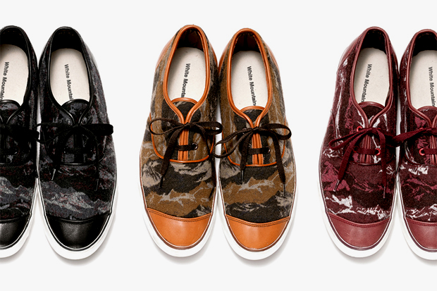 White Mountaineering 2012 Fall Flannel Camouflage Leather Low