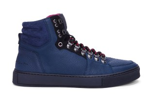 Yves Saint Laurent Navy Malibu Hiking Sneakers
