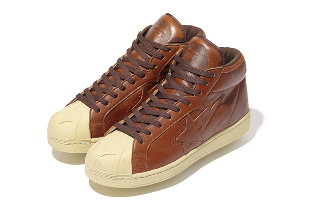A Bathing Ape Oil Leather BIG TONGUE ULTRA SKULL STA