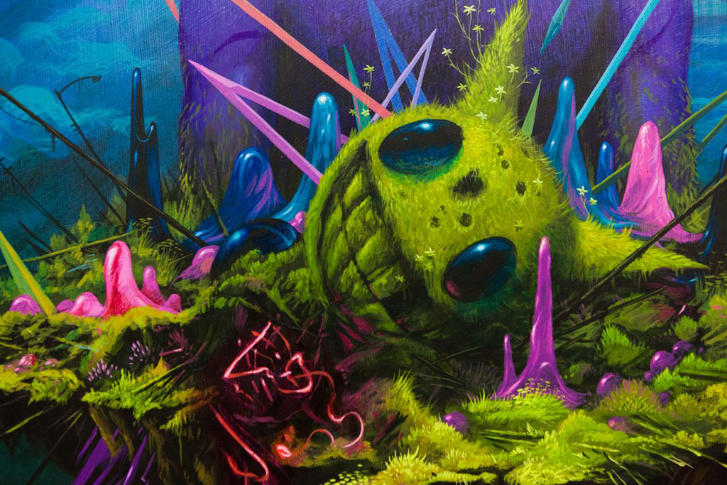 a studio visit with jeff soto for the decay and overgrowth exhibition