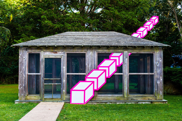 Aakash Nihalani's Three-Dimensional Shapes @ Long Island