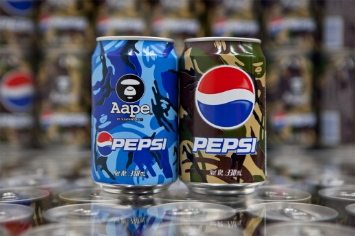 "AAPE by A Bathing Ape x Pepsi 2012 ""MOONFACE CAMO"" Cans"