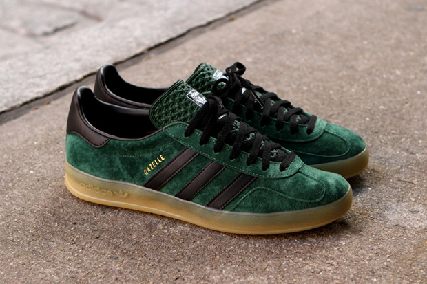 adidas gazelle indoor dark green black