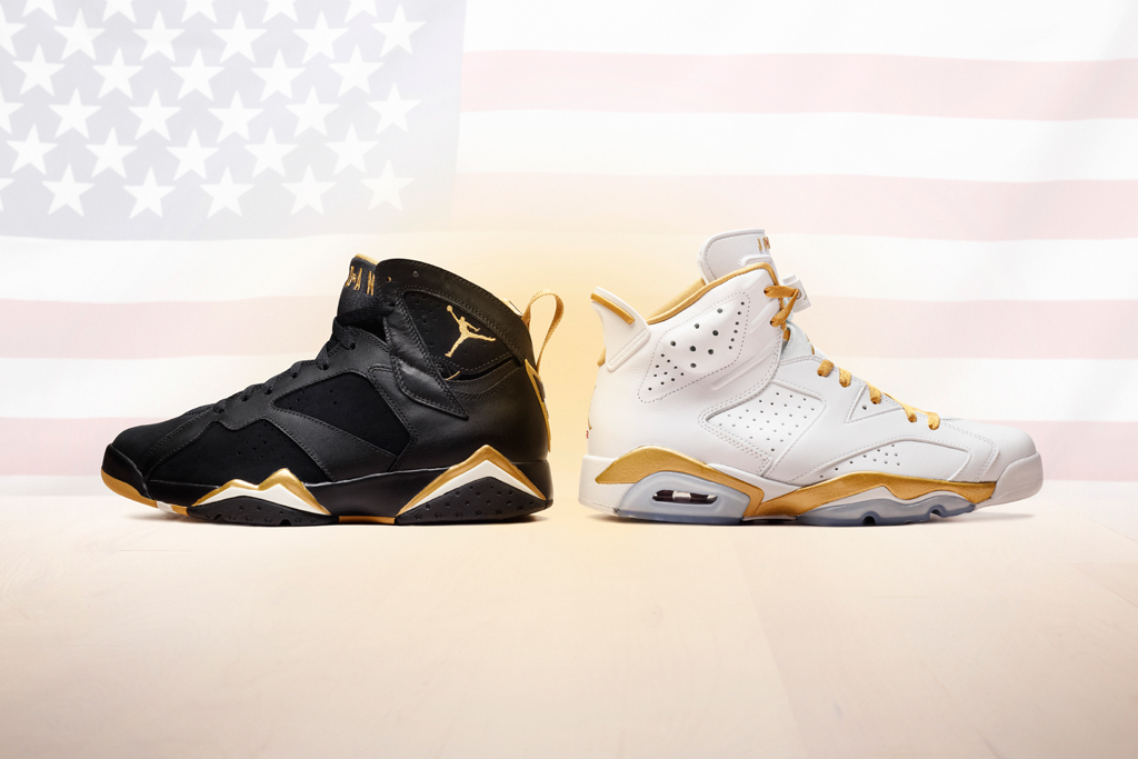 "Air Jordan VI & VII Retro ""Golden Moments"" Pack"