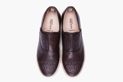 Alexander McQueen Dark Brown Embossed Leather Shoes
