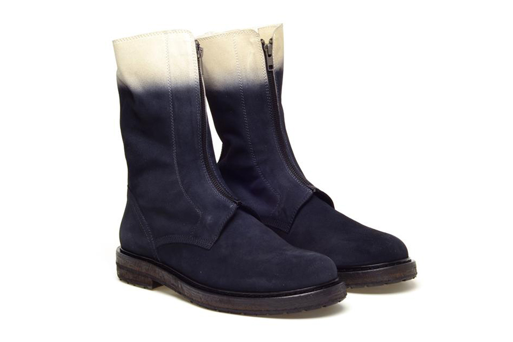 Ann Demeulemeester 2012 Fall/Winter Block Dyed Suede Engineer Boot