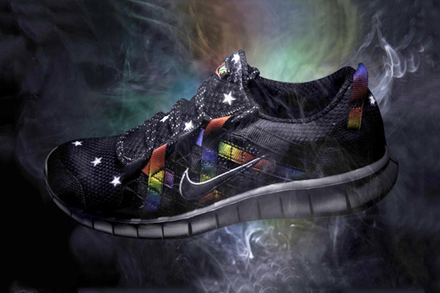 atmos nike free powerlines black rainbow
