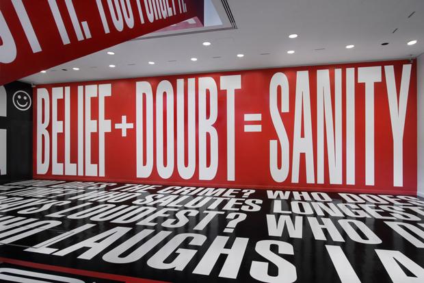 barbara kruger belief doubt installation hirshhorn museum