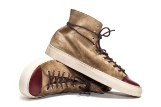 Buttero Tanino High Suede Beige Sneakers