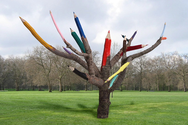 Color Pencil Tree by Dave Rittinger