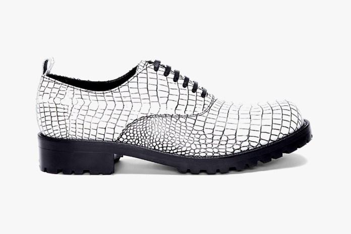 COMME des GARCONS HOMME PLUS Contrast Kip Embossed Shoes