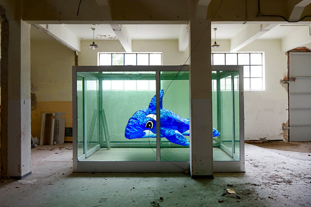 Damien Hirst Tribute 'A Dolphin For Damien' by Alfonso Batalla