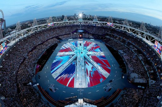 Damien Hirst UK Flag for 2012 London Olympics Closing Ceremony