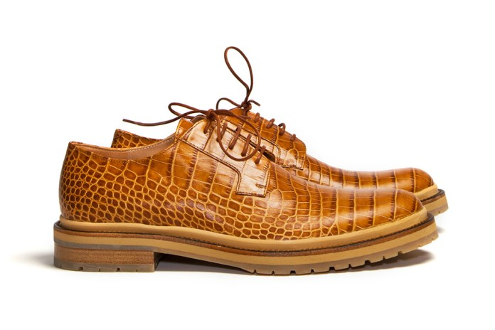 Dries Van Noten Structure Rust Derby Shoes
