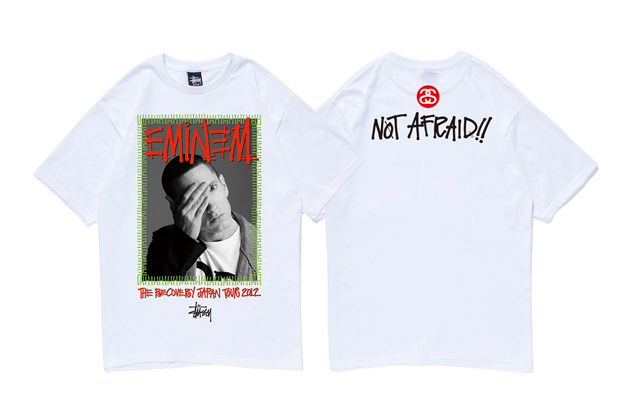 eminem x stussy recovery japan tour 2012 t shirt