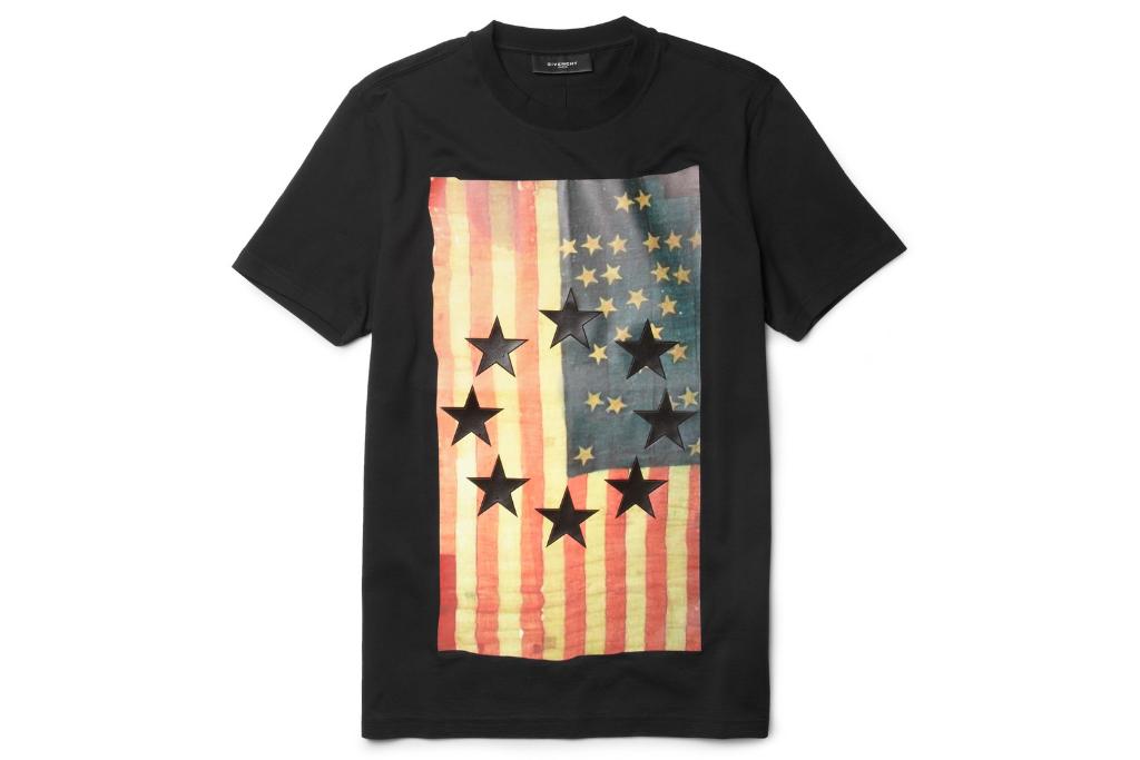 givenchy flag print t shirt