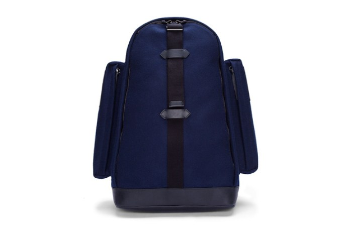 Givenchy Navy Felt and Leather Backpack