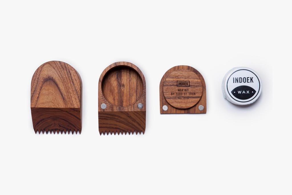 Indoek and Todd St. John Create A Beautiful Surf Wax Kit