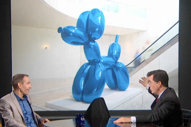 Jeff Koons Makes an Appearance on The Colbert Report