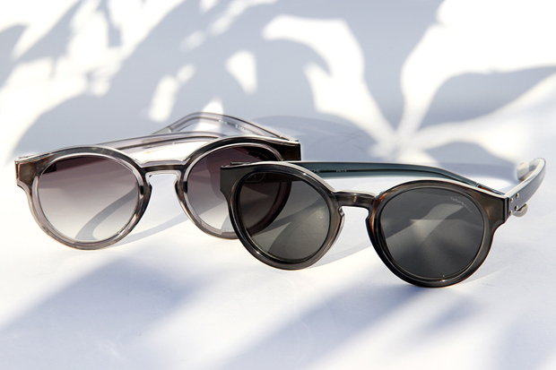 kris van assche x linda farrow 2012 fall winter round sunglasses
