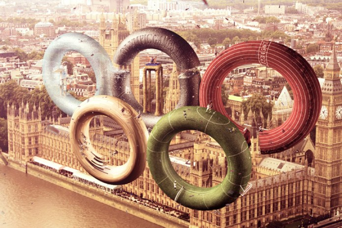 Leonardo Dentico Reimagines the London 2012 Olympic Rings