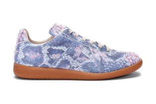 Maison Martin Margiela Suede Python Print Sneakers