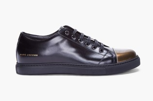 Marc Jacobs Patent Gold Cap Toe Leather Sneaker