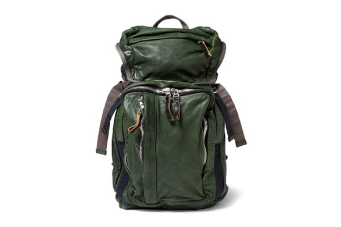 Marni Forest Green Leather Backpack