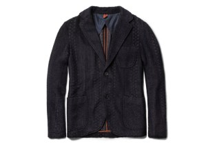 Missoni Unstructured Zigzag-Knit Mohair and Wool-Blend Blazer
