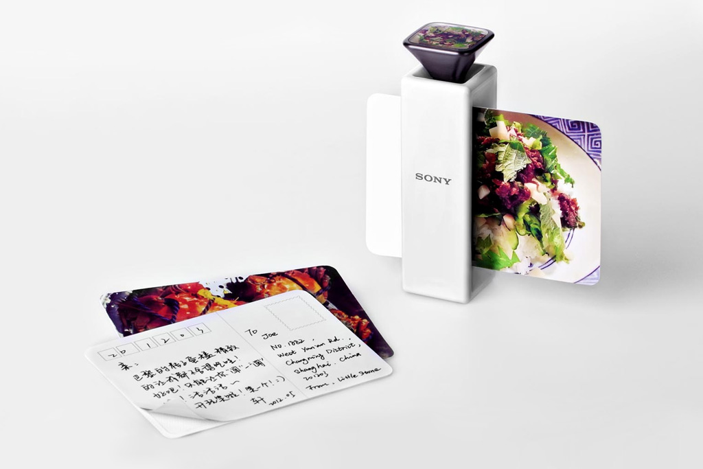 scent capturing postcard printer by li jingxuan for sony