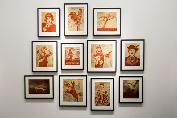 shepard fairey americana perry rubenstein gallery
