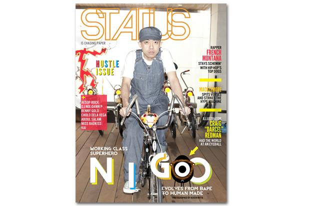 """STATUS Magazine August 2012 """"Hustle"""" Issue featuring NIGO"""